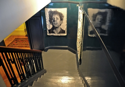 Staircase with glazed walls